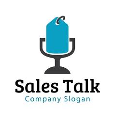 Sales talk design vector