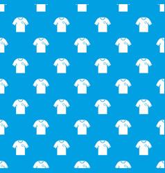 soccer shirt pattern seamless blue vector image vector image