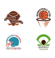 Sport team badge set vector