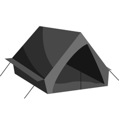 Tourist tent icon black monochrome style vector