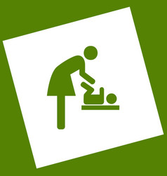 Women and baby symbol baby changing vector