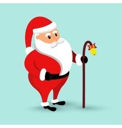 Cartoon santa claus is coming vector