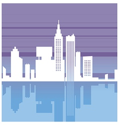 Abstract cityscape silhouette vector
