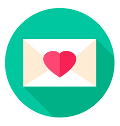 Love envelope circle icon vector