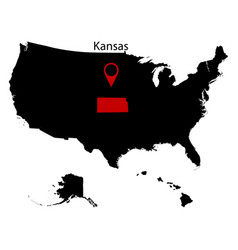 Map of the us state of kansas vector