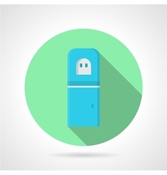 Blue water cooler green round icon vector