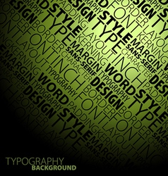Typography background vector