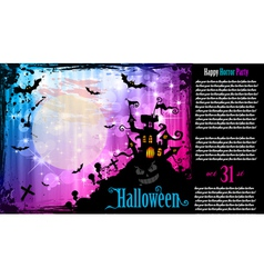 Halloween flyer vector