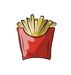 French fries sketch for your design vector