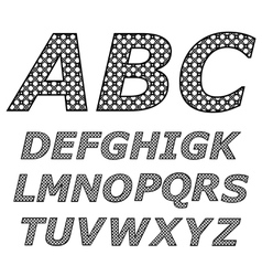 Black and white alphabet vector