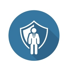 Security agency icon flat design vector