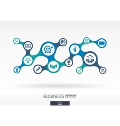 Business growth abstract background with vector