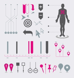 Map markers and pointers vector image