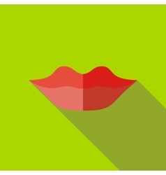 Lips icon flat style vector