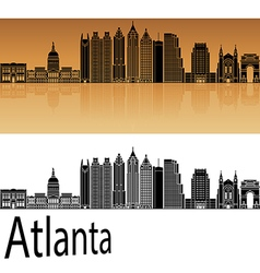 Atlanta v2 skyline in orange vector
