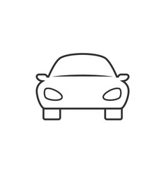 car linear icon vector image vector image