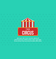 Circus and amusement park theme collection vector