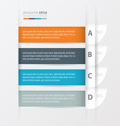 Curve modern infographics banner vector