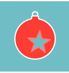 decoration on Christmas tree with star vector image