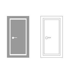 door set icon vector image vector image