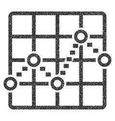 Dotted line grid plot grainy texture icon vector