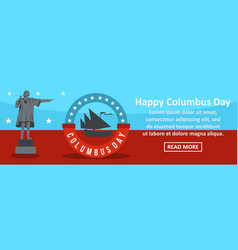 Happy columbus day banner horizontal concept vector