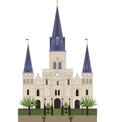 Louis Cathedral vector image vector image
