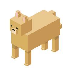 Modular farm animal plastic lego toy blocks and vector