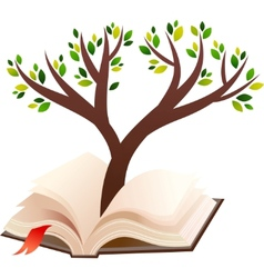 open book tree vector image vector image