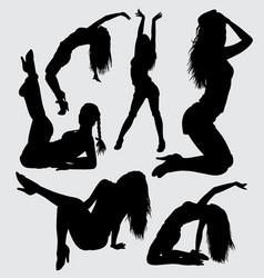 Sensual girl silhouette vector
