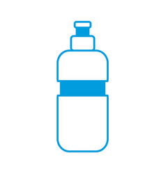 thermo water bottle vector image vector image