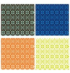 Trellis Pattern Collection vector image vector image