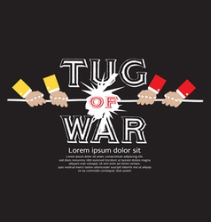Tug Of War EPS10 vector image