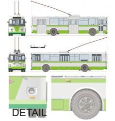 Urban trolleybus isolated vector