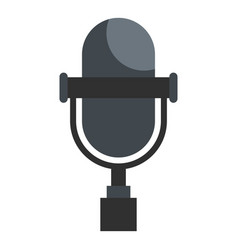 Vintage classic microphone icon isolated vector