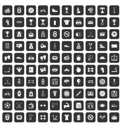 100 boxing icons set black vector image vector image