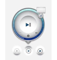 Multimedia player UI vector image