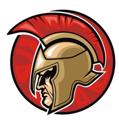 Spartan warrior head vector image