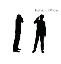 Man in on the phone vector