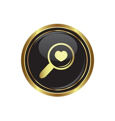 Zoom icon with heart vector image