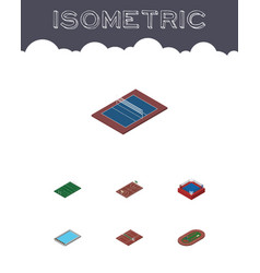 isometric lifestyle set of tennis american vector image
