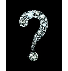 Diamond question mark vector