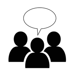 Group icon with speech bubble vector