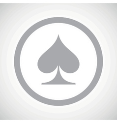 Grey spades sign icon vector