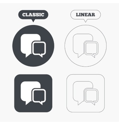Chat sign icon speech bubbles symbol vector