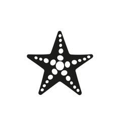 The starfish icon ocean symbol flat vector