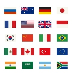 Flags icons vector
