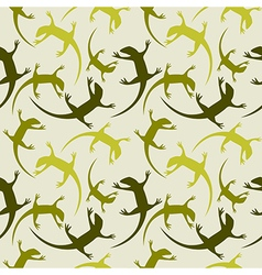Seamless animal pattern with colorful reptiles vector