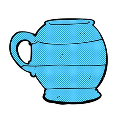 Comic cartoon old style mug vector