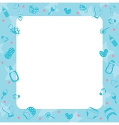 Baby icons objects border vector